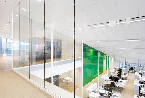 Triplan glass frame partitions