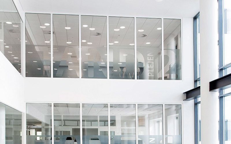 Photos/references TP Fire S fire-rated glass wall in steel frames
