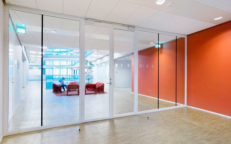Tp Fire Lite Rated Glass Wall Ei30 Double Steel Frame Door With Full