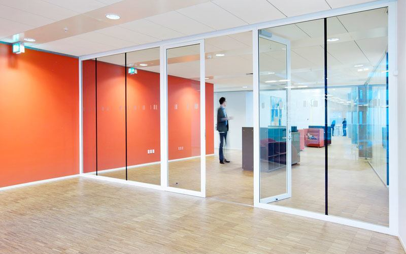 Tp Fire Lite Rated Glass Wall Ei30 Double Steel Frame Door With Side